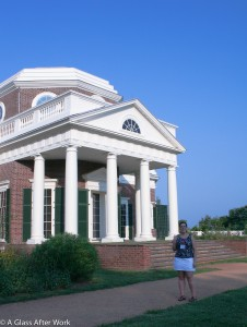 Me outside Monticello