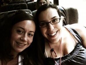 Shelby & me on wine tasting bus #2 at WBC11