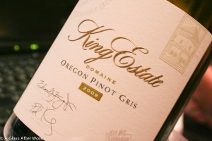 2009 King Estate Domain Pinot Gris