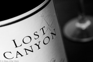 2009 Lost Canyon Pinot Noir BW Closeup