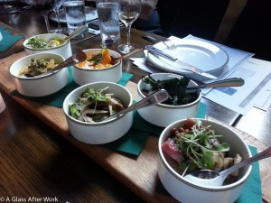 Salads and Pazo San Mauro Albariño at Beuchert's