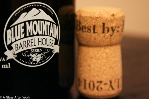 Blue Mountain Barrel House logo and cork