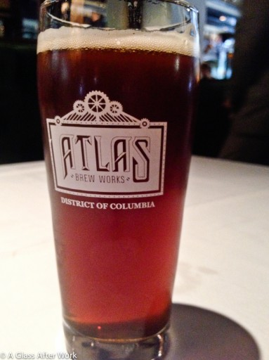 A pint of Atlas Brew Works Rowdy Rye at Old Ebbitt Grill