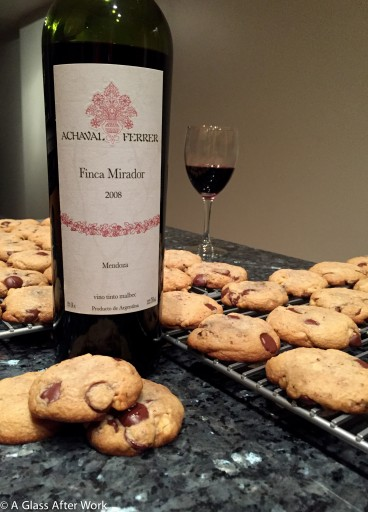 "2008 Achaval-Ferrer Finca Mirador Malbec with Rose Levy Beranbaum's ""My Chocolate Chip Cookies"""