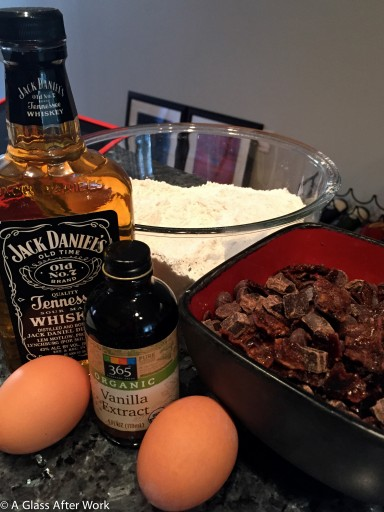 Ingredients for Candied Bacon Bourbon Chocolate Chip Cookies