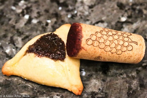Hamentaschen and wine cork
