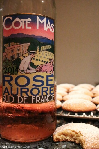 2012 Côté Mas Sud de France Rosé Aurore with Soft and Chewy Lemon Cookies