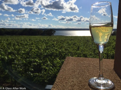 Seneca Lake and a glass of NY Cider at Ventosa Vineyards
