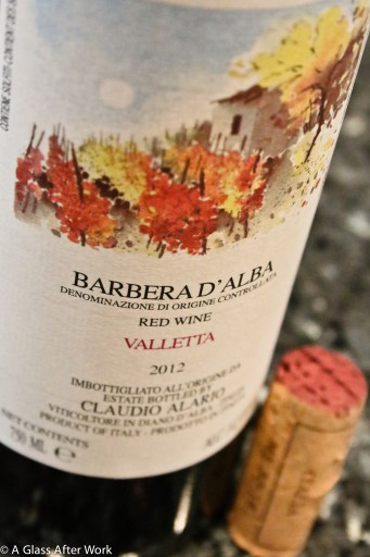 2012 Valletta Barbera d'Alba - This $25 bottle of red wine from Italy is delicate and intense, making it perfect for Easter or Thanksgiving dinner, particularly if you're serving lamb or turkey. Rating 4.5 out of 5. | AGlassAfterWork.com