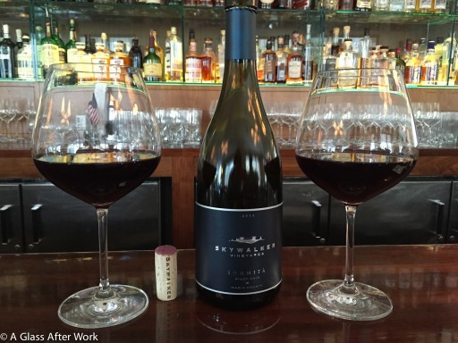 2012 Skywalker Vineyards Sommita at the bar at Charlie Palmers Steak DC