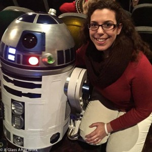 Me meeting R2D2 at the Disney screening of Star Wars: The Force Awakens on opening night