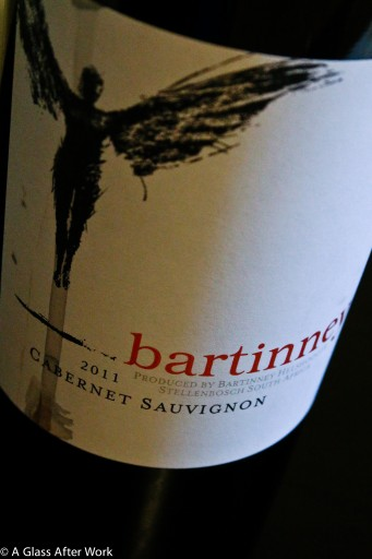 2011 Bartinney Cabernet Sauvignon - This $20 red wine from South Africa is food-friendly, captivating, and the perfect glass of wine to end a work day.  Rating = 4 out of 5 | AGlassAfterWork.com