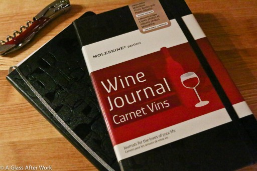Moleskin wine journal