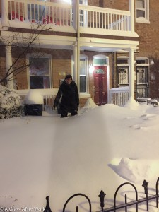 Snowzilla Day 2 - Me walking into the front yard in the evening to discover we had 22 inches of snow