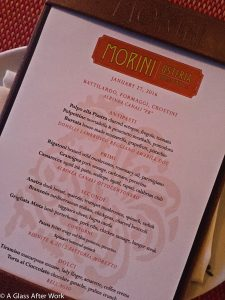 2016 Lambrusco Tasting Menu at Osteria Morini