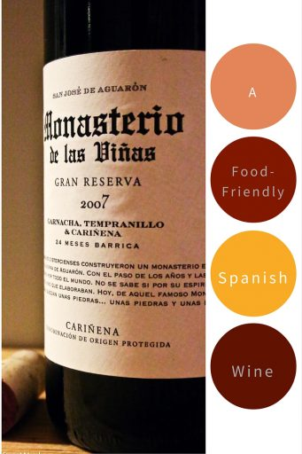 2007 Grandes Vinos y Viñedos Monasterio de las Viñas – At $20 a bottle, this red wine blend is from Cariñena, Spain, which is the country's leading producer of old-vine Garnacha and Cariñena. The wine is medium bodied and definitely meant to drink with food. Ratings 3 out of 5 | AGlassAfterWork.com