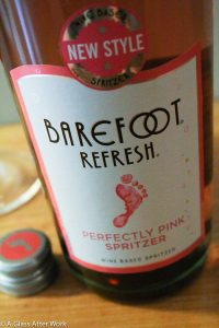 Barefoot Perfectly Pink Spritzer- At $7, this sweet, rosé wine spritzer is easy to drink and very refreshing. One serving is also only 180 calories, but still is full of flavor. It would be great to enjoy at a cookout or during an summer evening with girlfriends. Rating: 3.5 Corks out 5 | AGlassAfterWork.com