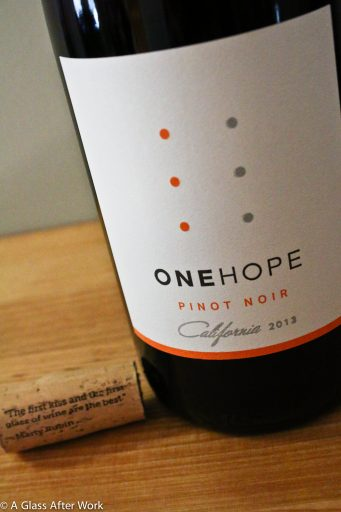 One Hope Pinot Noir – At $19 a bottle, this red wine from California not only tastes great, but also helps fund rescue animal adoptions, as half the proceeds go to charity. The wine is juicy with a touch of sweetness and begs to be paired with grilled Portobello mushrooms, goat cheese, and girlfriends. Rating: 3.5 out of 5. | AGlassAfterWork.com