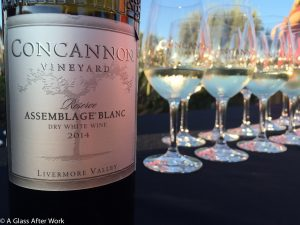 2014 Concannon Vineyard Assemblage Blanc at the vineyard