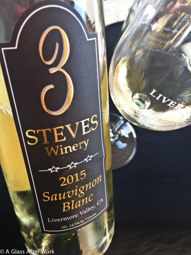 2015 3 Steves Winery Sauvignon Blanc – At $25, this California white wine from the Livermore Valley is very interesting and would be best paired with food. If you like wines with a bit of funk (think melon rinds and oysters) mixed with luscious peaches and pineapple, then this is the wine for you. Rating 3 out of 5 | AGlassAfterWork.com