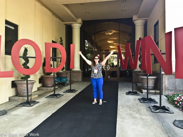 Me with the Lodi Wine sign at the