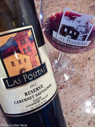 2012 Las Positas Vineyards Cabernet Sauvignon Reserve – At $68, this California red wine is very non-intrusive. It has medium body, a mix of fruit and spice characteristics, and is definitely meant for food. Rating: 3 out 5 | AGlassAfterWork.com