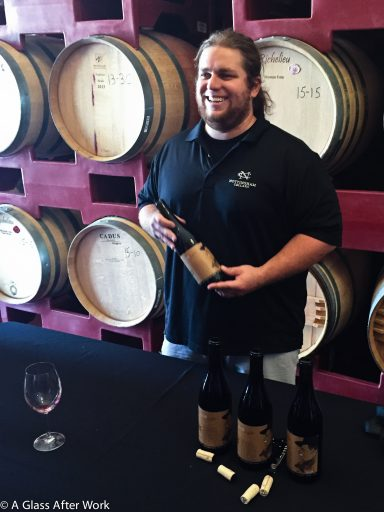 Collin Cranor, the winemaker for Vasco Urbano Wine Comapny and Nottingham Cellars