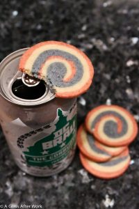 DC Brau The Corruption and Red white and blue pinwheel icebox cookies