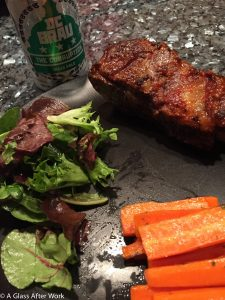 "Ribs, maple glazed carrots, and DC Brau ""The Corruption"""