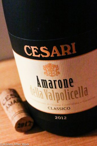 2012 Cesari Amarone della Valpolicella Classico – At $40, this red wine from Veneto, Italy a little pricey, but as long as the wine aerates before drinking it's smooth, flavorful, and delicious. This would also be a great wine for aging. Rating: 4 out 5 | AGlassAfterWork.com