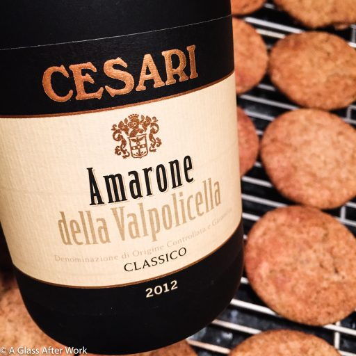 2012 Cesari Amarone della Valpolicella Classico & Apple Butter Snickerdoodles– These easy-to-make cookies and this $40 red wine from Veneto, Italy were each enjoyable on their own, but together, they enhanced each other for an out-of-this-world pairing. Cheers! | AGlassAfterWork.com