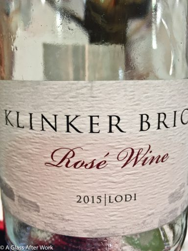 2015 Klinker Brick Winery Rosé – At $15, this California rosé wine is a perfect summer porch sipper with a nice quality/price ratio. Rating: 4 out 5 | AGlassAfterWork.com