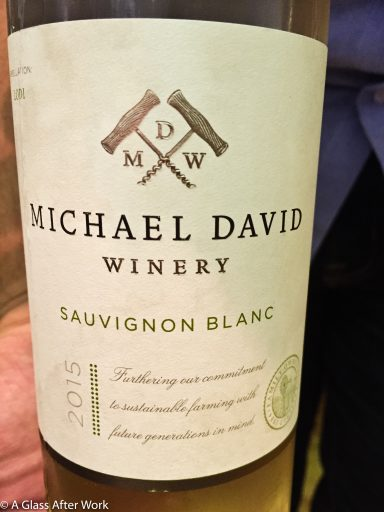 2015 Michael David Winery Sauvignon Blanc – At $16, this white wine from California is sustainably grown and has nice fruit flavors.  It's a refreshing Sauvignon Blanc at an affordable price. Rating: 3.5 out 5 | AGlassAfterWork.com