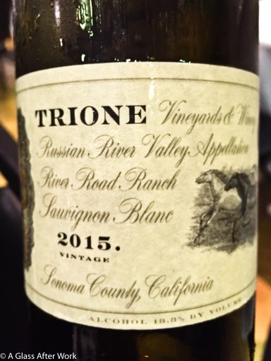 "2015 Trione Vineyards and Winery Sauvignon Blanc – At $23, this is a whole lot of California white wine for not too hefty of a price.  Think peach, grass, green pepper, and rose petals.  Every sip will having you thinking ""wow"" and wishing for oysters. Rating: 4.5 out 5 