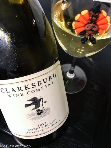"2014 Clarksburg Chenin Blanc – This $18 white wine from California would be good any time of year and is absolutely wonderful on its own, but makes a particularly delicious addition to a Thanksgiving feast. It's the epitome of what every Thanksgiving Dinner pairing should be! The magnetic wine charm is by Simply Charmed and part of the ""Tom Turkey"" set. Rating 4.5 out of 5 