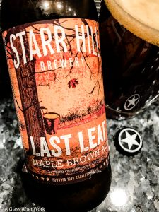 Starr Hill Last Leaf Maple Brown Ale – The beer is full of fall flavors without tasting like potpourri. It's perfect for enjoying on a crisp fall evening around a fire pit with friends. Rating: 4 out 5   AGlassAfterWork.com
