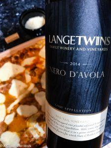 2014 LangeTwins Family Winery Nero d'Avola – At $20, this sustainably-made red wine from California is good on its own, and absolutely shines as the perfect pairing for meat lasagna. Rating: 4 out of 5 | AGlassAfterWork.com