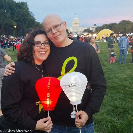 Hubby and me at the DC's Light the Night Walk in October 2017