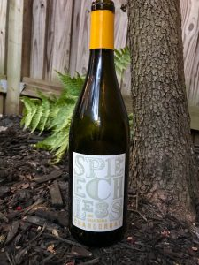 The 2017 Speechless Chardonnay is $26 and is a California Chardonnay that was bottled specifically for VineOh!. It's not very complicated, but easily drinkable. | AGlassAfterWork.com
